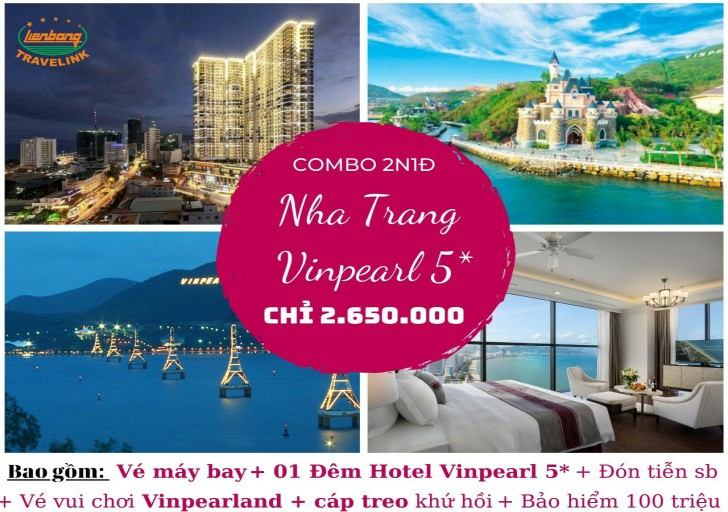 Tour Nha Trang Vinpearl - Chỉ 2.65 triệu bao gồm vé máy bay